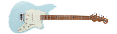 Reverend Six Gun - Chronic Blue with Roasted Neck