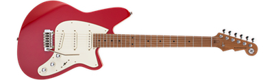 Reverend Six Gun - Party Red with Roasted Neck
