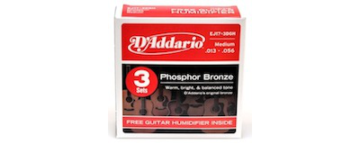 3pk - D'Addario EJ17 String with Guitar Humidifier