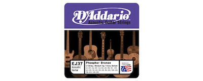 D'Addario EJ37 Med Top Heavy Bottom Strings