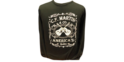 Martin Dual Guitar Long Sleeve T-Shirt - Black