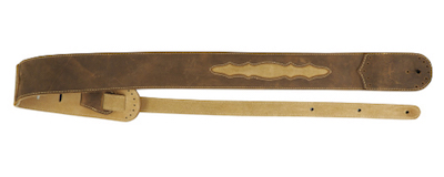 Martin Wingtip Leather Guitar Strap - Light Brown
