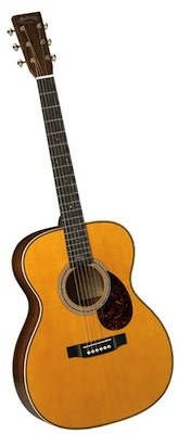 Martin Custom Shop OM Size 28 Style with Engelmann Spruce Top, Abalone Rosette and Fishman Pickup,cu