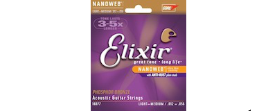 Elixir 16077 Phosphor Bronze Light-Medium Strings