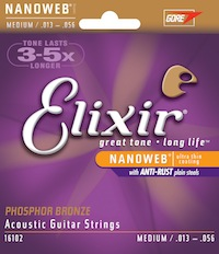 Elixir 16102 Phosphor Bronze Medium Strings