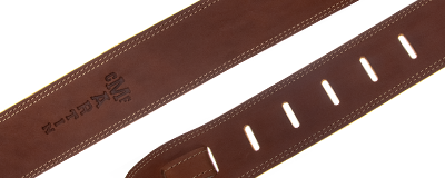 Martin brown ball glove leather guitar strap