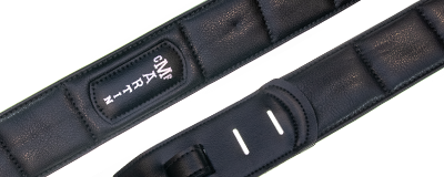 Martin Canvas Vegan Leather Guitar Strap - Black