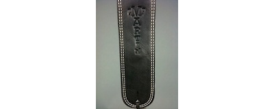 Martin black ball glove leather guitar strap