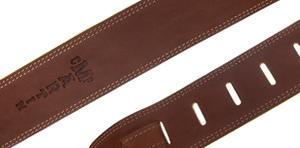 Martin brown ball glove leather guitar strap