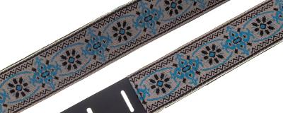 Martin Retro Woven Jacquard Strap - Blue