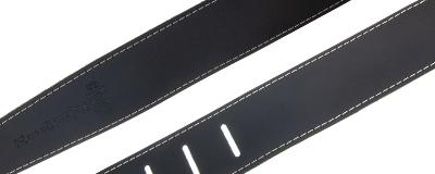 Martin Slim Leather Strap - Black