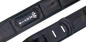 Martin Canvas Vegan Leather Guitar Strap - Black