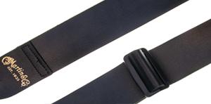 Martin Vegan Leather 2 inch Slider Guitar Strap - Black