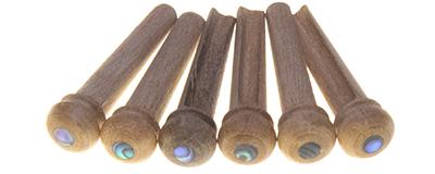 Persimmon Guitar Bridge Pins 6pk with abalone inlay