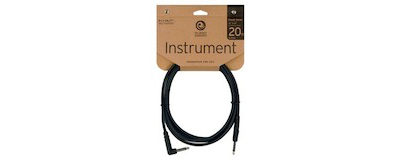 Planet Waves 20' Classic Instrument Cable with Right Angle