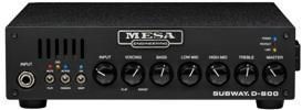 Mesa Boogie Subway D-800 Lightweight 800-watt Bass Head