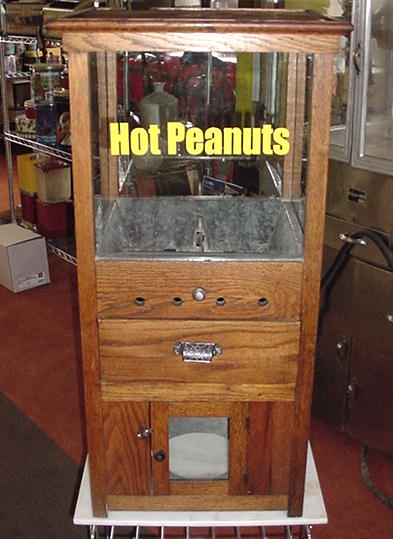The Peanut King Rare Antique Peanut Warmer Vending