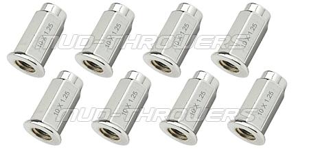 Flat Chrome Lug Nuts 10mm x 1.25