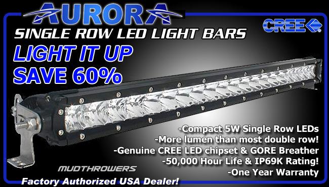 Aurora Offroad Single Row LED Light Bars
