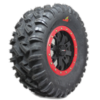 """26"""" Dirt Commanders with 14"""" SS108 Black Wheels on a Polaris 850 XP"""