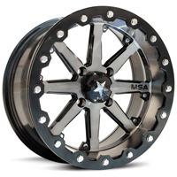 MSA Gunmetal M21 Lok Beadlock ATV Wheels