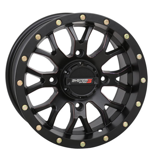 System 3 ST-3 Matte Black Wheels