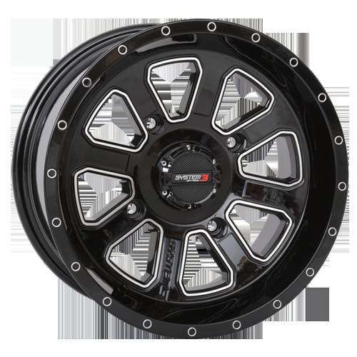 System 3 ST-4 Gloss Black Wheels