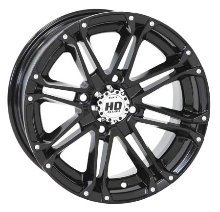 STI HD3 Gloss Black Wheel ATV Wheel
