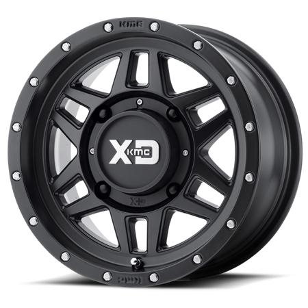 KMC XS128 Machete Black Wheel ATV Wheels