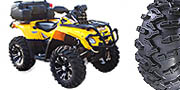 "GBC Grim Reaper Kit, pictured 27"" tires with 14"" SS312 wheels on a Can-Am 800."
