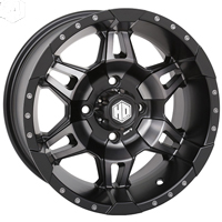STI HD7 Matte Black UTV Wheels