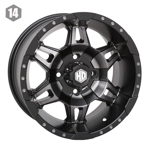 STI HD7 Matte Black UTV Wheels