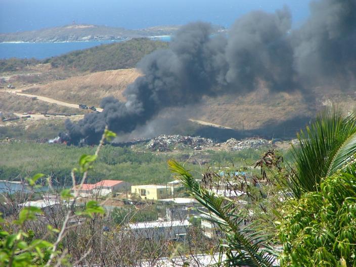 Bovoni land fill fire. 4/9/08  nieldp.com