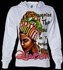 Ladies Sublimation Full Size Print Hooded Sweatshirts