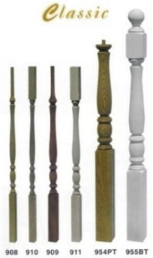 Classic Wood Newels & Balusters