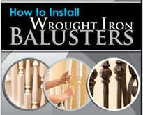 How to install wrought iron stair balusters