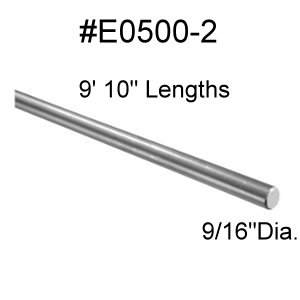 "9/16"" Round Stainless Steel"