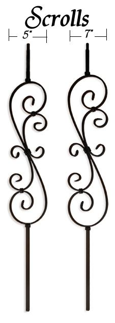 Leepers Iron Scroll Balusters