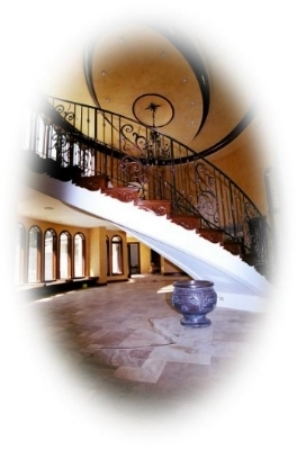 Double Architectural Oval Free Standing Staircase