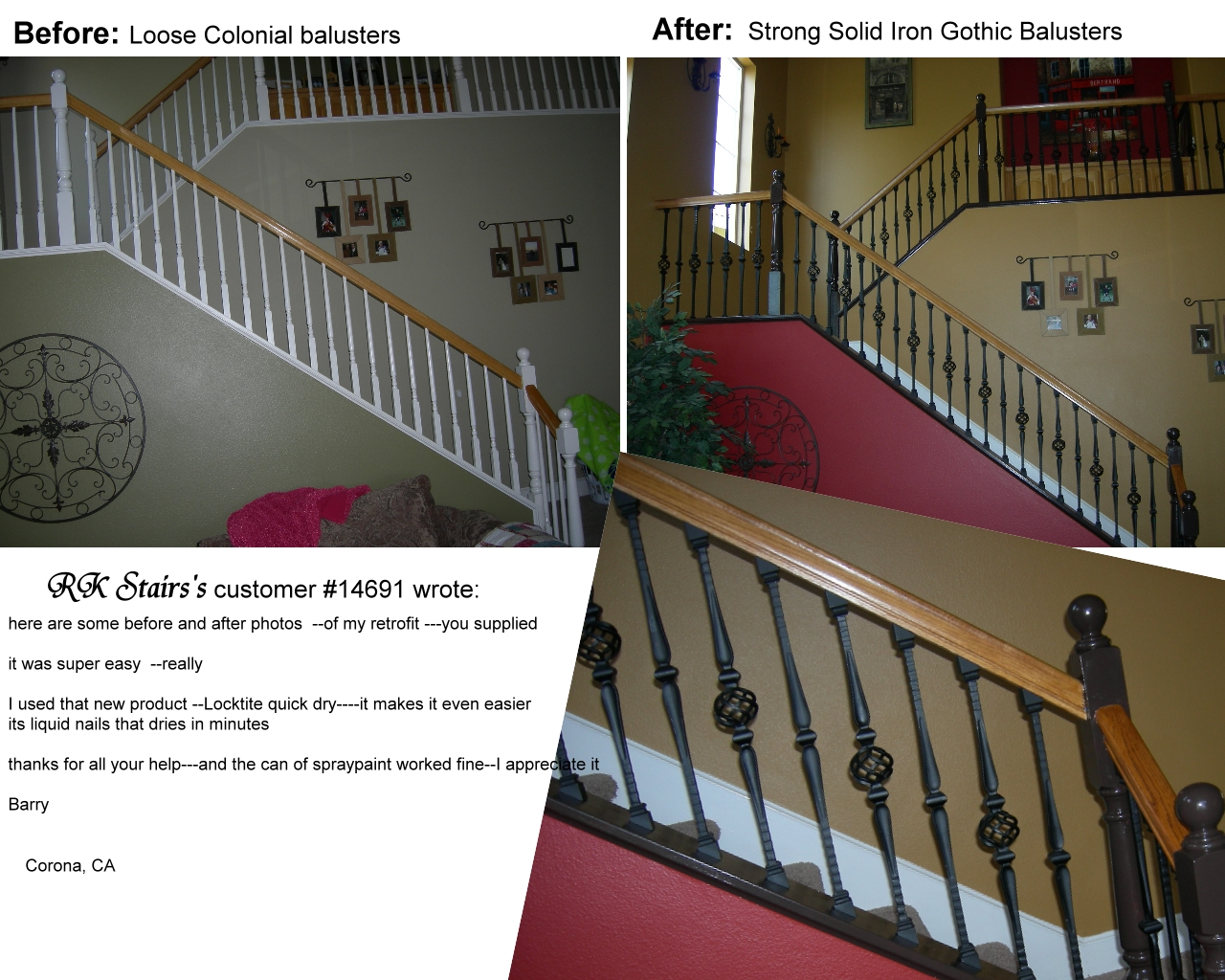 Retrofit Stairs with Gothic Iron Balusters