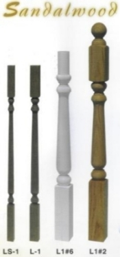 Leepers Sandalwood wood newels and wood balusters
