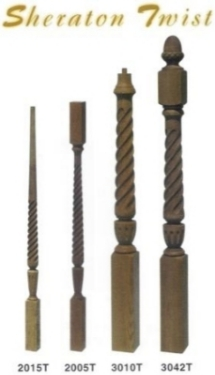 Sheraton Wood Newels and Wood Balusters