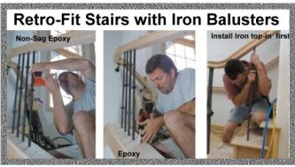 Iron Baluster Installation