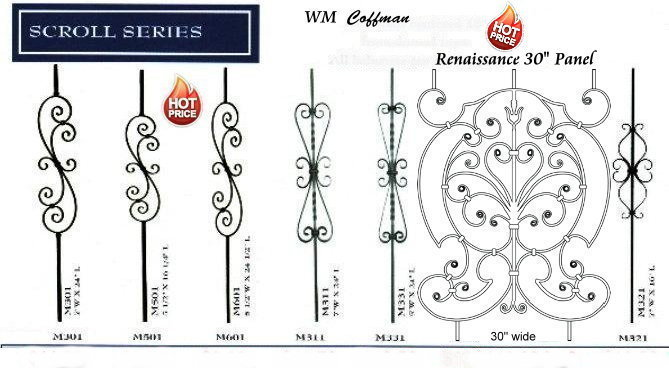scroll iron stair balusters
