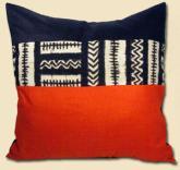 Large Mustafa Mudcloth Pillow with Insert