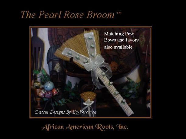 The Pearl Rose Wedding Broom
