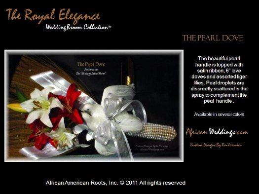 The Pearl Dove Wedding Broom