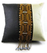 Malian Ebony and Ivory Mudcloth Pillow