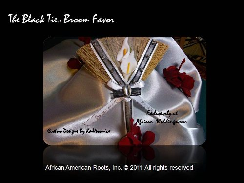 Black Tie Wedding Broom Favor