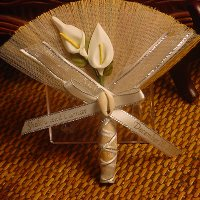 Sheer Beauty Wedding Broom Favor